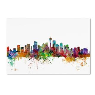 Michael Tompsett 'Seattle Washington Skyline' Canvas Wall Art