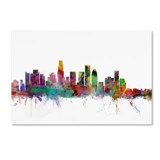 Michael Tompsett 'Los Angeles California Skyline' Canvas Wall Art