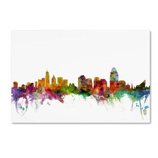 Michael Tompsett 'Cincinnati Ohio Skyline' Canvas Wall Art