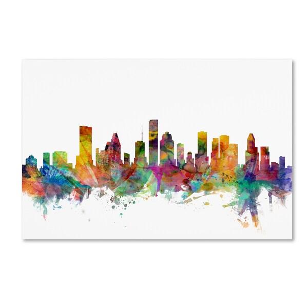 Michael Tompsett 'Houston Texas Skyline' Canvas Wall Art
