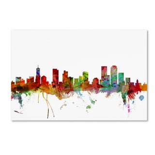 Michael Tompsett 'Denver Colorado Skyline' Canvas Wall Art