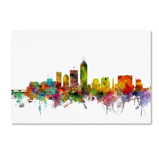Michael Tompsett 'Indianapolis Indiana Skyline' Canvas Wall Art