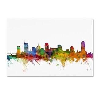 Shop Michael Tompsett Nashville Tennessee Skyline Canvas