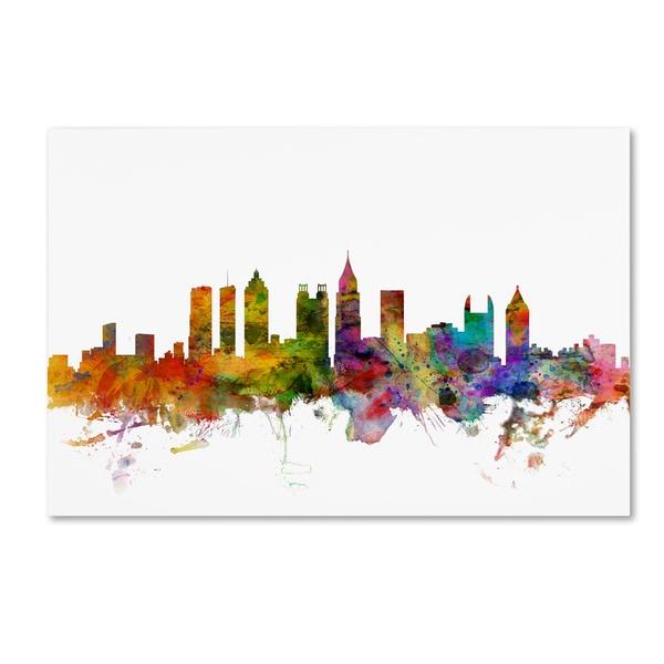 Shop Michael Tompsett \'Atlanta Georgia Skyline\' Canvas Wall Art - On ...