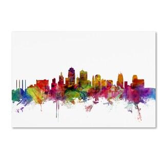 Michael Tompsett 'Kansas City Skyline' Canvas Wall Art