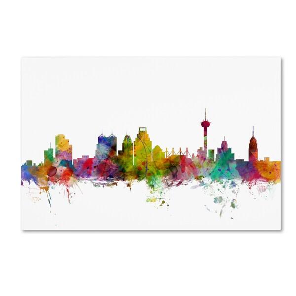 Shop Michael Tompsett San Antonio Texas Skyline Canvas