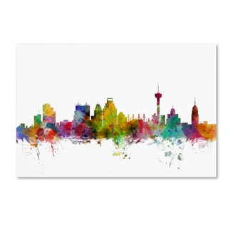 Michael Tompsett 'San Antonio Texas Skyline' Canvas Wall Art