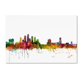 Michael Tompsett 'Tampa Florida Skyline' Canvas Wall Art