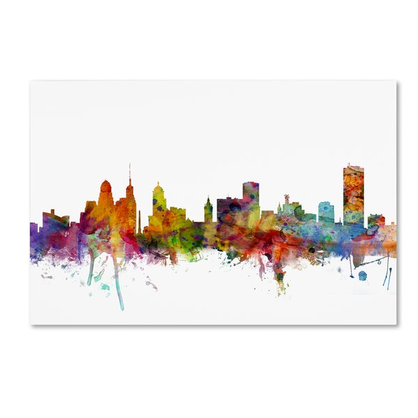 Michael Tompsett 'Buffalo New York Skyline' Canvas Wall Art