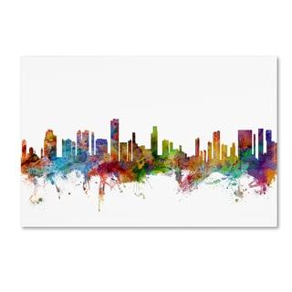 Michael Tompsett 'Honolulu Hawaii Skyline' Canvas Wall Art