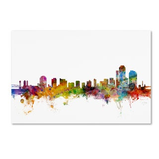 Michael Tompsett 'Wilmington Delaware Skyline' Canvas Wall Art