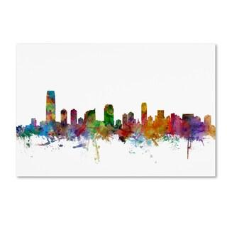 Michael Tompsett 'Jersey City New Jersey Skyline' Canvas Wall Art