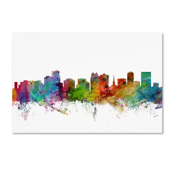 Michael Tompsett 'Orlando Florida Skyline' Canvas Wall Art - Multi