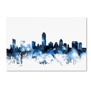 Michael Tompsett 'Austin Texas Skyline II' Canvas Wall Art