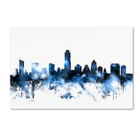 Michael Tompsett 'Austin Texas Skyline II' Canvas Wall Art