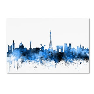 Michael Tompsett 'Paris France Skyline' Canvas Wall Art