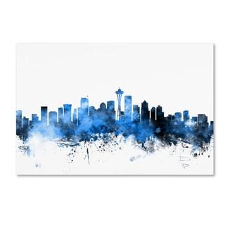 Michael Tompsett 'Seattle Washington Skyline II' Canvas Wall Art