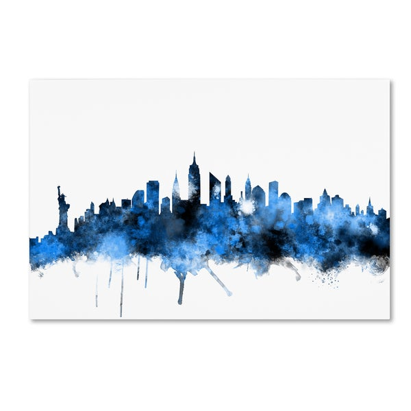 Michael Tompsett 'new York Skyline Ii' Canvas Wall Art by Trademark Fine Art