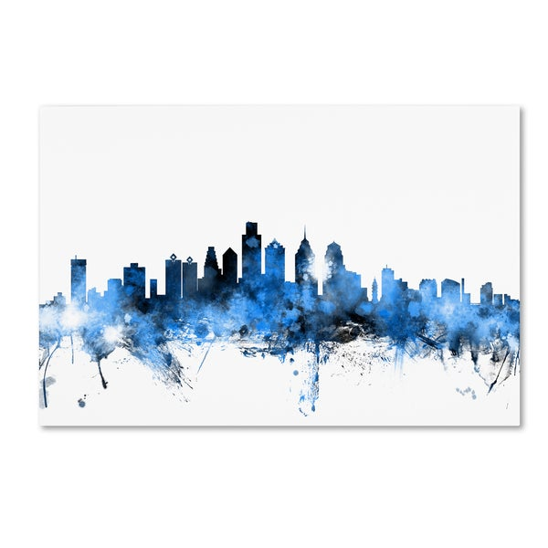 Michael Tompsett 'Philadelphia Pennsylvania Skyline II' Canvas Wall Art
