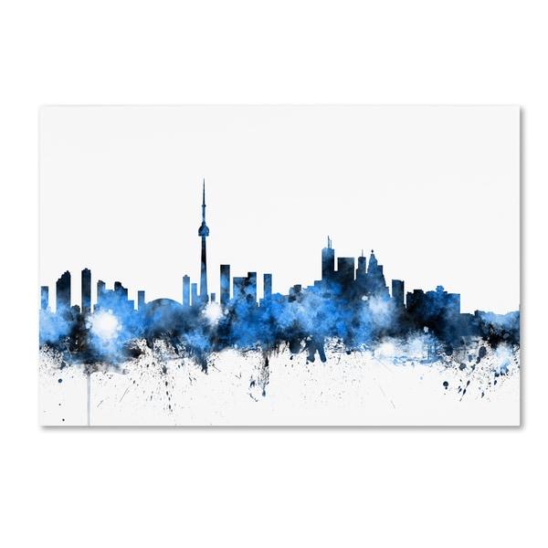 Michael Tompsett 'Toronto Canada Skyline' Canvas Wall Art - Multi