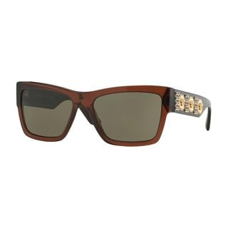 Versace Men's VE4289 513073 Brown Plastic Butterfly Sunglasses