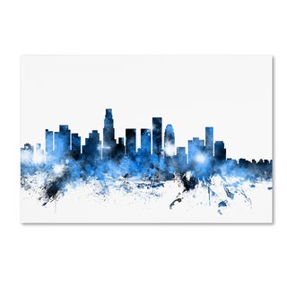 Michael Tompsett 'Los Angeles California Skyline II' Canvas Wall Art