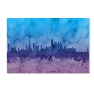 Michael Tompsett 'Toronto Canada Skyline II' Canvas Wall Art