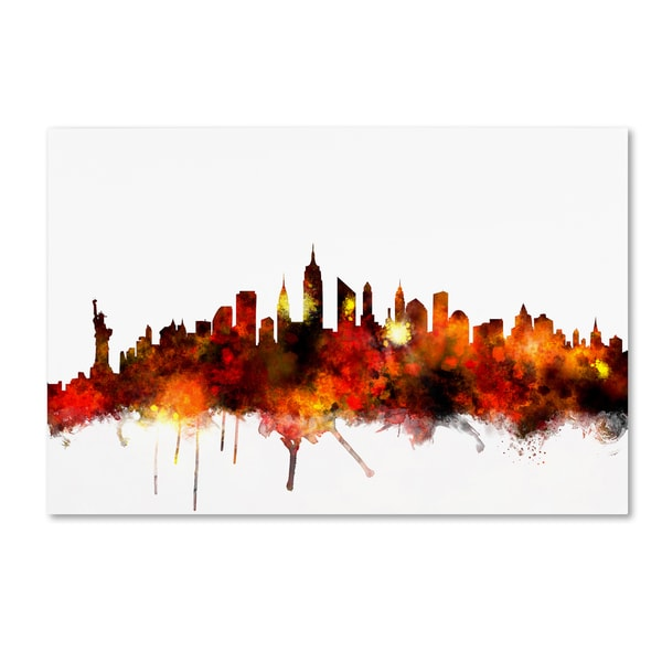 Michael Tompsett 'new York Skyline Vii' Canvas Wall Art by Trademark Fine Art