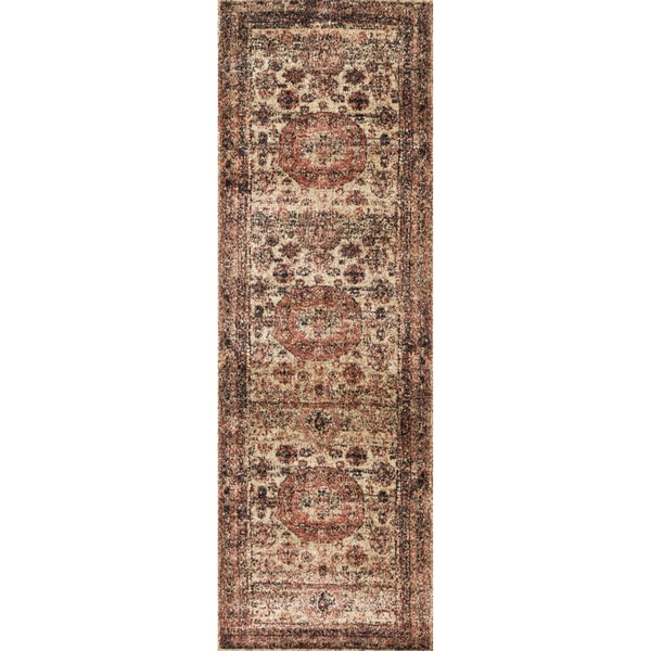 Shop Traditional Brown Multi Medallion Distressed Runner