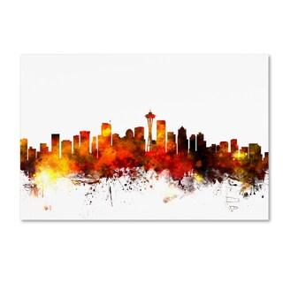 Michael Tompsett 'Seattle Washington Skyline III' Canvas Wall Art