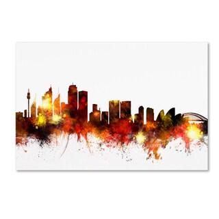 Michael Tompsett 'Sydney Australia Skyline III' Canvas Wall Art