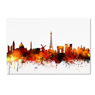 Michael Tompsett 'Paris France Skyline II' Canvas Wall Art