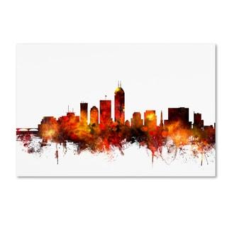 Michael Tompsett 'Indianapolis Indiana Skyline II' Canvas Wall Art