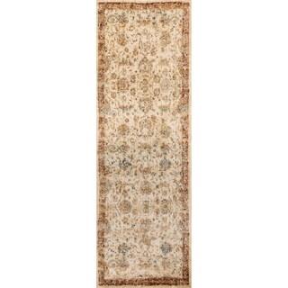 Contessa Antique Ivory/ Rust Runner Rug (2'7 x 10'0)