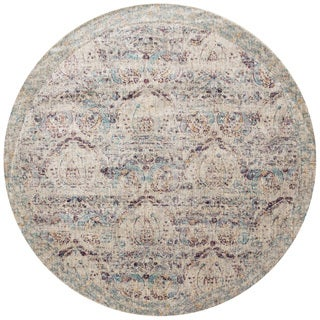 Contessa Silver/ Plum Rug (9'6 x 9'6 Round)