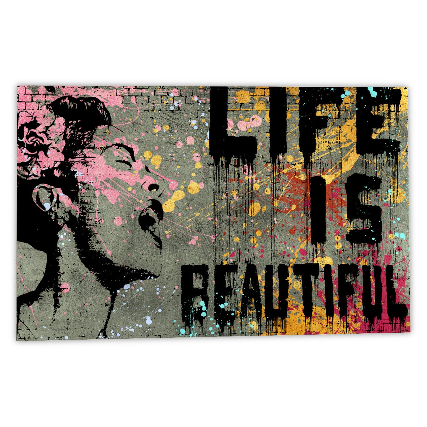 Banksy Life Is Beautiful Canvas Wall Art Free Shipping On Orders Over 45 10793610