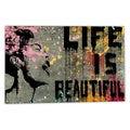 Banksy 'Life is Beautiful' Canvas Wall Art
