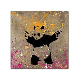 Banksy 'Panda with Guns' Canvas Wall Art