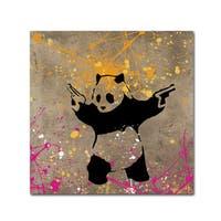 Banksy 'Panda with Guns' Canvas Wall Art