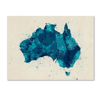 Michael Tompsett 'Australia Paint Splashes Map 2' Canvas Wall Art