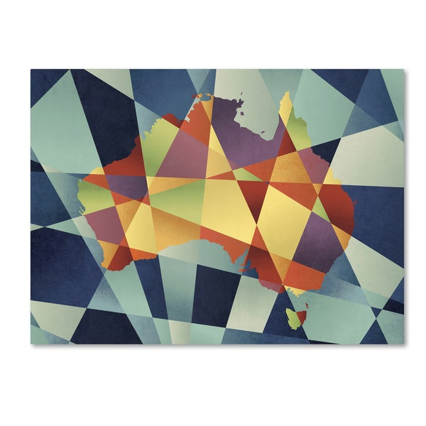 Michael tompsett australia geometric retro map canvas wall art michael tompsett x27australia geometric retro mapx27 gumiabroncs Image collections