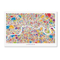 Michael Tompsett 'London England Street Map' Canvas Wall Art - Multi
