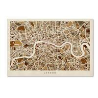 Michael Tompsett 'London England Street Map 2' Canvas Wall Art - Multi
