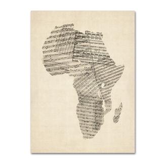 Michael Tompsett 'Old Sheet Music Map of Africa' Canvas Wall Art