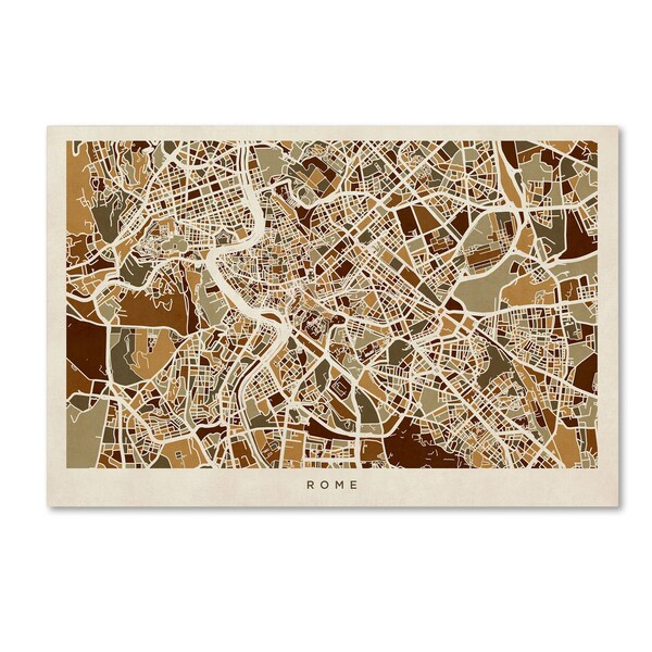 Italy Map Wall Art.Shop Michael Tompsett Rome Italy Street Map Canvas Wall Art