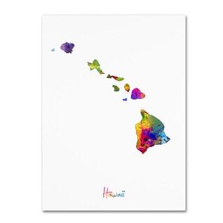 Michael Tompsett 'Hawaii Map' Canvas Wall Art