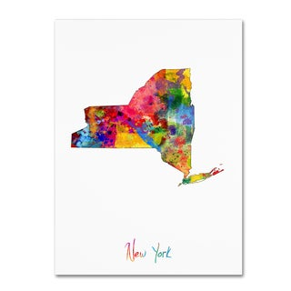 Michael Tompsett 'New York Map' Canvas Wall Art
