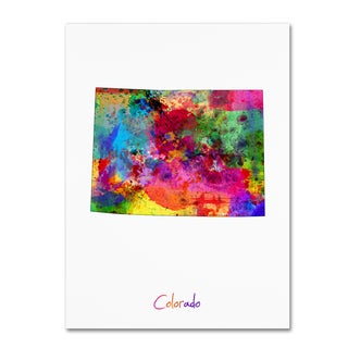 Michael Tompsett 'Colorado Map' Canvas Wall Art