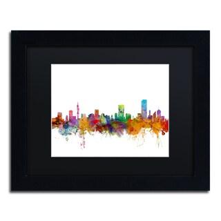 Michael Tompsett 'Pretoria South Africa Skyline' Black Matte, Black Framed Canvas Wall Art