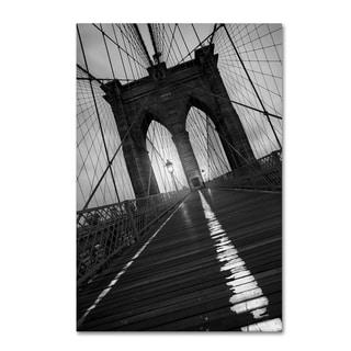 Moises Levy 'Brooklyn Bridge Study I' Canvas Wall Art